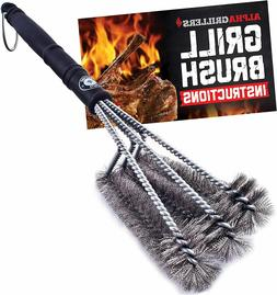 """18"""" Grill Brush. Best BBQ Cleaner. Safe for All Grills. Dura"""