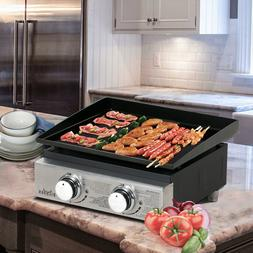 BIG HORN OUTDOORS 18 Inch Portable 2 Burner Propane Gas Gril