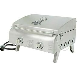 2 Burner Portable Stainless Steel BBQ Table Top Propane Gas