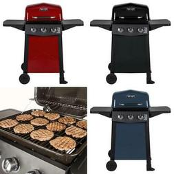 3-Burner Open Cart Propane Gas Grill Steel Stainless BBQ Out