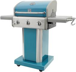 Kenmore 3-Burner Patio Propane Gas Grill in Teal