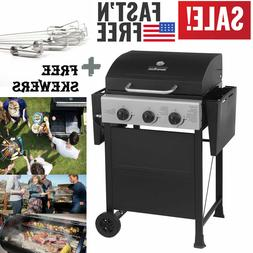 3 Burners Gas Grill Barbecue Backyard Outdoor Cooking+ Kabob