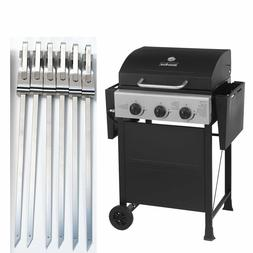 """Master Cook 3 Burners Gas Grills Garden Barbecue Bbq +12"""" Ka"""