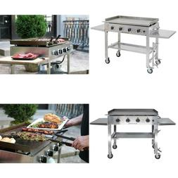 36 in. 4-Burner Propane Gas Grill in Stainless Steel with Gr