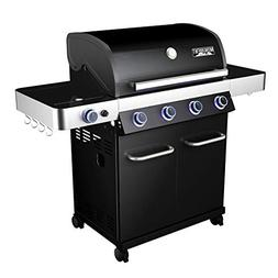 Monument Grills Porcelain 4 Burner Propane Gas Grill with LE