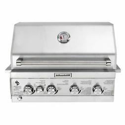 KitchenAid 4-Burner Built-in Propane Gas Island Stainless St