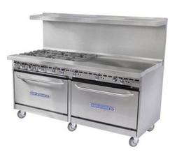 "Bakers Pride 4 Burner 36"" Griddle 60"" Range 60BP-4B-G36-S26"
