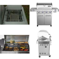 4-Burner Propane Gas Grill in Stainless with LED Controls, S