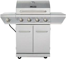 Nexgrill 4-Burner Propane Gas Grill Stainless Steel Side Bur
