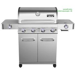 Monument Grills 4-Burner Propane Gas Grill with Side and Sid