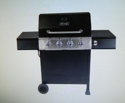 Dyna-Glo 4-Burner Gas Grill in Black Open Cart Outdoor Barbe