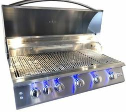 "RCS Gas Grills 40"" Premier Grill with Blue LED and Rear Burn"