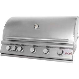 "40"" 5-Burner Built-In Gas Grill with Rear Infrared Burner Ga"