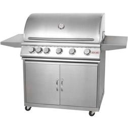 """Blaze 40"""" 5-Burner Grill and Cart Package with Rear Burner -"""