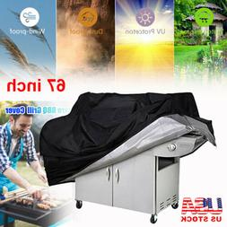 """67"""" Large BBQ Grill Cover Heavy Duty Gas Barbecue Outdoor Wa"""