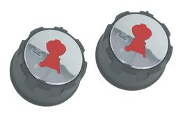 Weber 69892 Set of 2 Replacement Gas Control Knobs Spirit 20