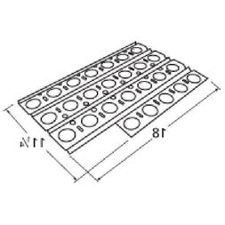Music City Metals 92561 Stainless Steel Heat Plate Replaceme