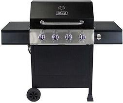 Dyna-Glo 4-Burner Open Cart LP Gas Grill in Black DGF493PNP-