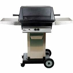 Pgs A40 Cast Aluminum LP Gas Grill On Stainless Steel Portab