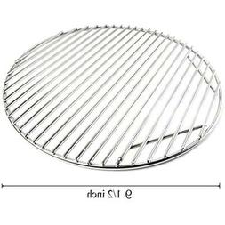 BBQ Gas Grill Stainless Steel Grid Round Hinged Cooking Grat
