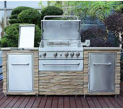 Natural Gas Outdoor Stone Outdoor Kitche...