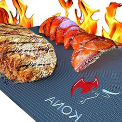 Kona Best BBQ Grill Mat - Heavy Duty 600 Degree Non-Stick Ma