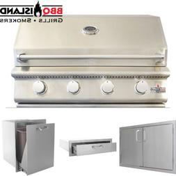 BBQ Island 32 Inch Grill and Accessories Package - Natural G