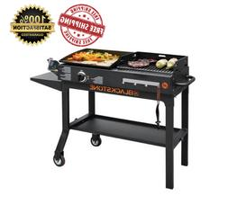Blackstone Griddle and Charcoal Grill Combo Flat Top Gas Hib
