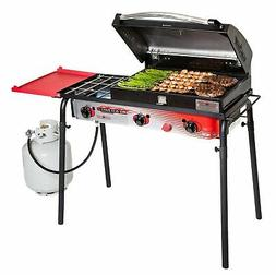 Brand New Big Gas 3 Burner Grill Black/red