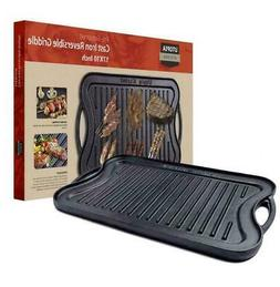 Cast Iron Griddle For Grill BBQ Steak Oven Gas Electric Stov