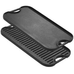 Cast Iron Griddle For Grill LODGE Cookware Grilling Plate BB