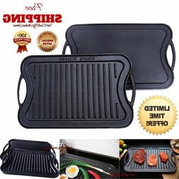 Utopia Kitchen Cast Iron Reversible Grill Griddle 15-inch x