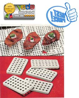 CERAMIC GRILL BRICK SET FOR GAS AND ELECTRIC GRILLS , BEIGE,