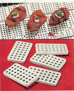 Ceramic Grill Bricks For Gas And Electric 3.5 Inches Set Of