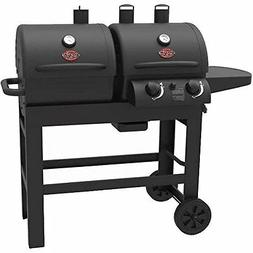 Char-Griller Dual 2 Burner Charcoal and Gas Grill with Stain