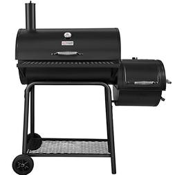 Royal Gourmet Charcoal Grill with Offset Smoker BBQ Backyard