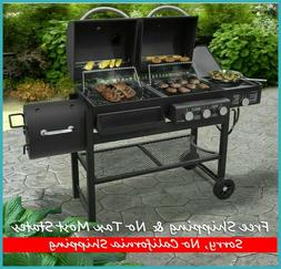Smoke Hollow Combination 30,000 BTU Gas + Charcoal Grill Bla