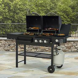 Smoke Hollow Combination Gas and Charcoal Grill Dual Fuel Sm