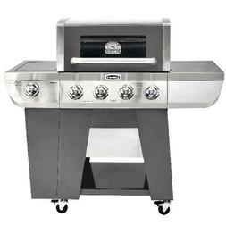 4 Burner Propane Gas Grill 3 in 1 Smoker BBQ Outdoor Cooking