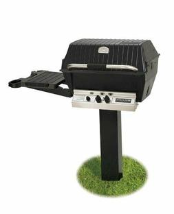 BROILMASTER DELUXE GAS GRILL PKG 2 w/In-GROUND POST & SIDE S