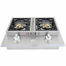 Lion Premium Grills Double Side Burner Natural Gas L1634