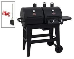 Char-Griller Dual 2 Burner Charcoal & Gas Grill, Black, with