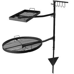 Sunnydaze Dual Campfire Cooking Grill Grate Swivel System, O