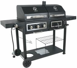 RevoAce Dual Fuel Gas & Charcoal Combo Grill, Black with Sta