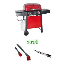 Durable Outdoor Barbeque & Burger Gas Grill  with Free