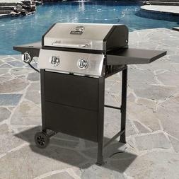 Dyna-Glo 2-Burner  Gas Grill in Stainless Steel and Black wi