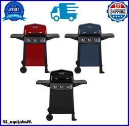 Dyna-Glo 3-Burner Open Cart Propane Gas Grill In Black Blue