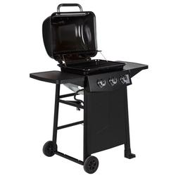 Dyna-Glo 3-Burner Open Cart Propane Gas Grill in Black Porce