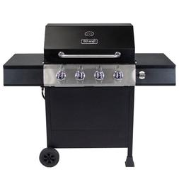 DYNA-GLO Open Cart LP Gas Grill 4-Burner Black Portable 48,0