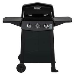 Dyna-Glo Propane Gas Grill 3-Burner Open Cart Warming Rack S